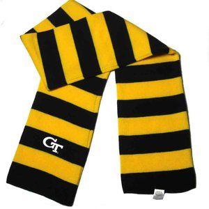 Georgia Tech Scarf Yellow Black Cotton Men's